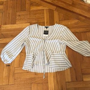 NWT Topshop going out shirt